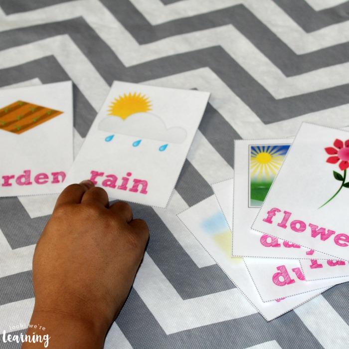 Printable Spring Sight Word Flashcards