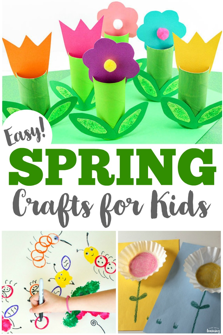 Welcome spring with this list of 75 easy spring crafts for kids to make!