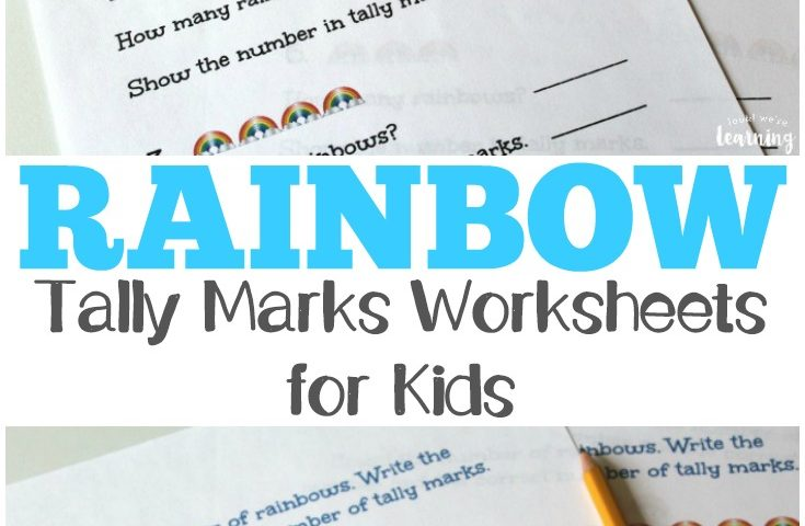 Spring Worksheets for Kids: Rainbow Tally Marks Worksheets