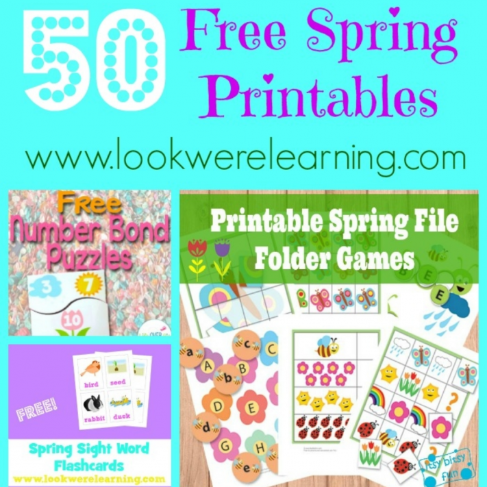 50 Free Spring Printables for Kids - Look! We\'re Learning!