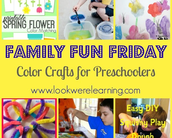 Color Crafts for Preschoolers with Family Fun Friday!