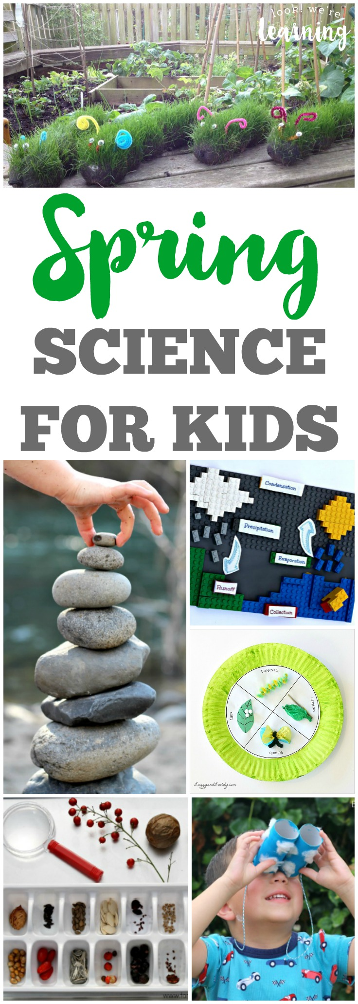 Learn about science with the little ones with these fun spring science ideas for kids!