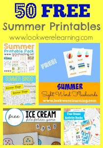50 Free Summer Printables for Kids @ Look! We're Learning!