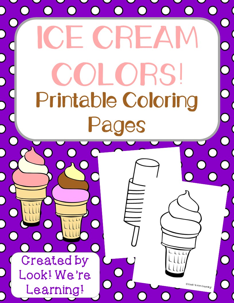 Preschool Worksheets Printable Ice Cream
