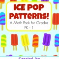 Ice Pop Patterns Printable Pack - Look! We're Learning!