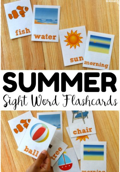 Practice reading sight words this summer with these fun summer sight word flashcards! Great for building reading fluency before the new school year!