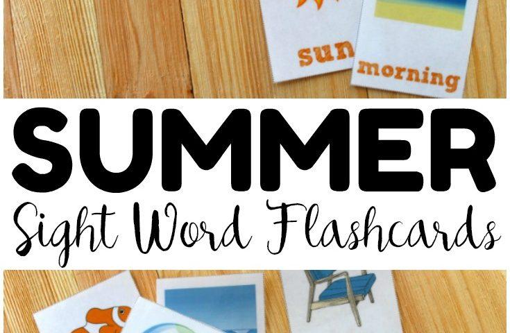 Free Printable Flashcards: Summer Printable Sight Word Flashcards
