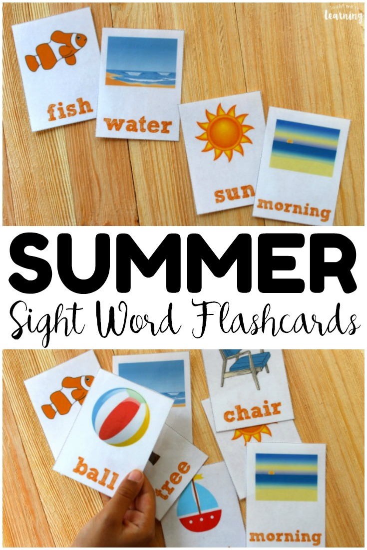photo regarding Printable Sight Word Cards referred to as Summertime Printable Sight Phrase Flashcards - Appear! Ended up Understanding!