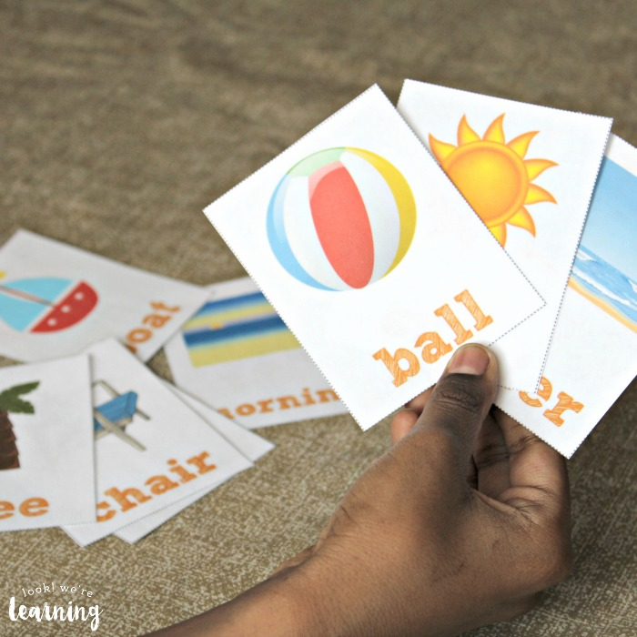printable sight word flashcards about summer