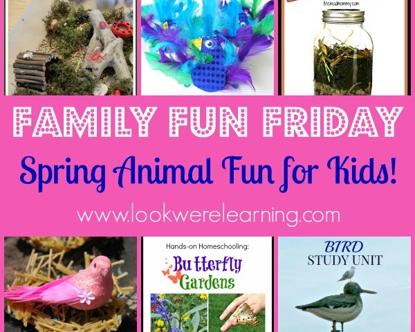 Spring Animal Crafts with Family Fun Friday!