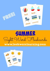 Summer Sight Word Flashcards