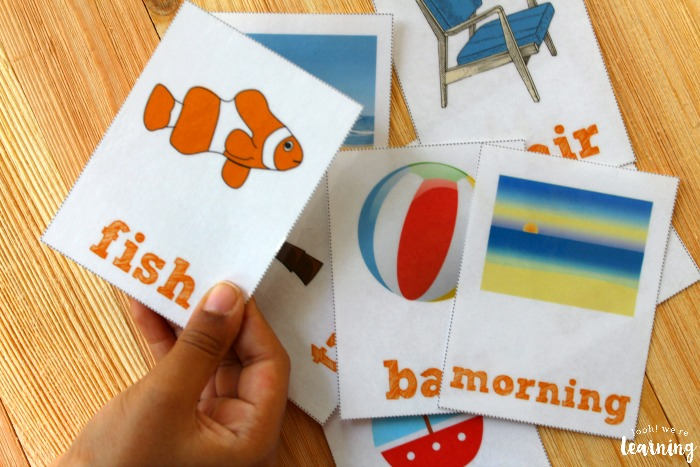 Summer Sight Word Flashcards for Kids