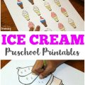 These ice cream preschool printables feature same and different practice, as well as size sorting and coloring pages!