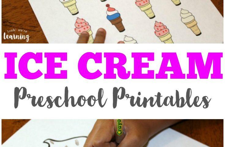 Printable Ice Cream Preschool Worksheets