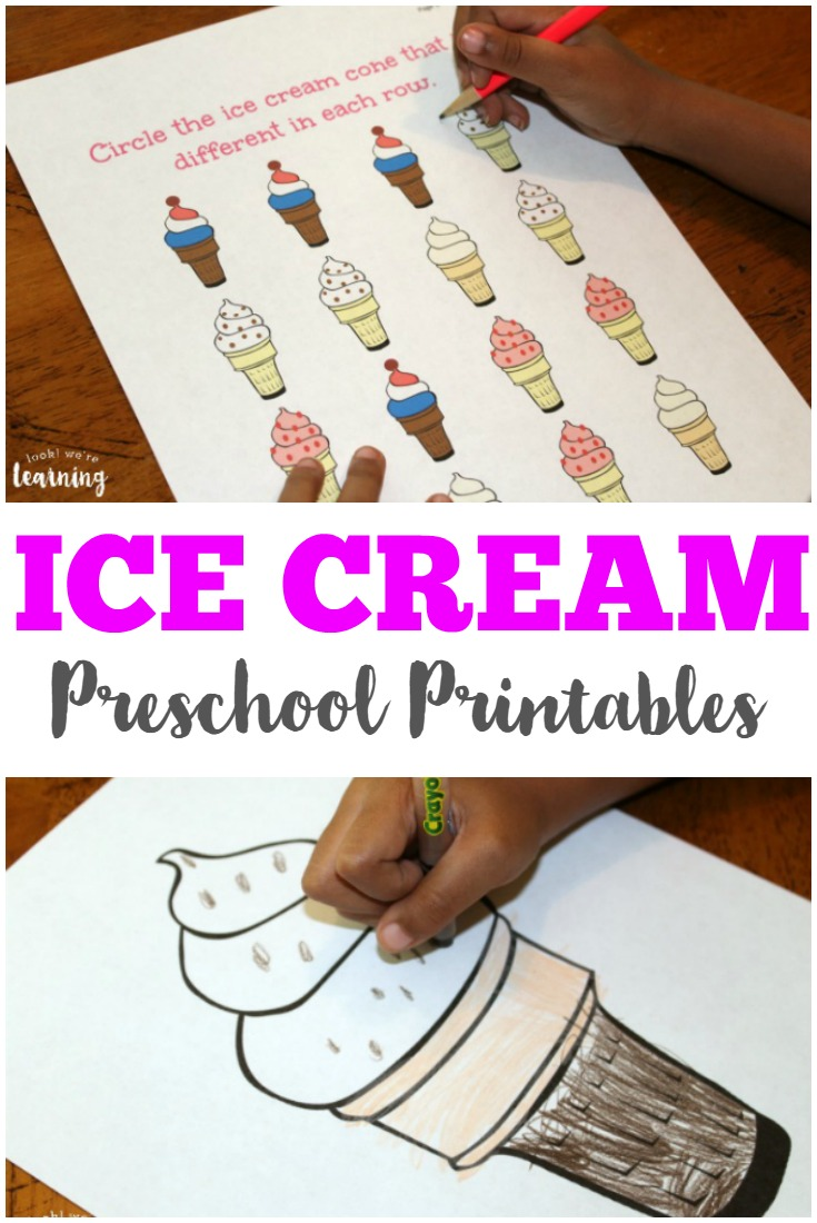 Pick up these fun ice cream preschool worksheets for your early learners!