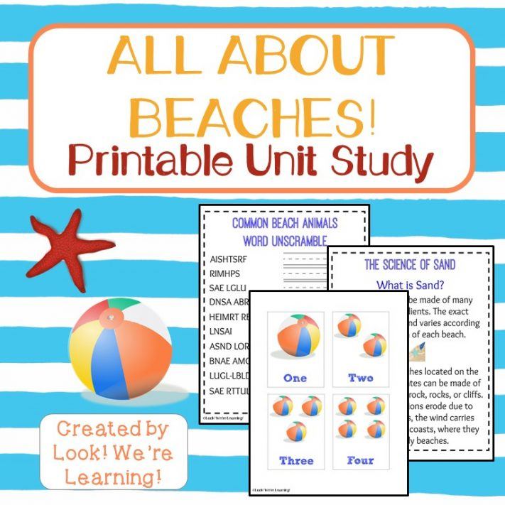 All About Beaches Printable Unit Study for Kids