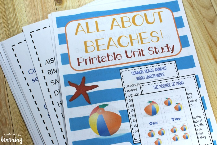 All About Beaches Printable Unit Study