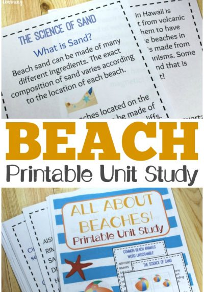 Printable Beach Unit Study: All About Beaches