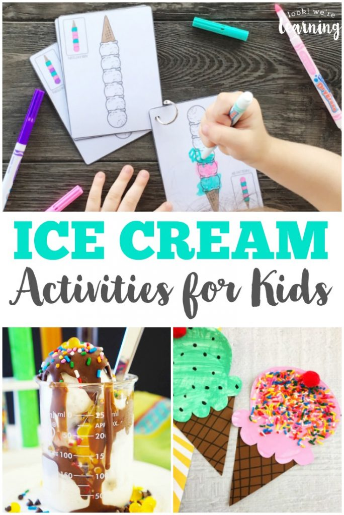 Make summer a fun time for learning with these neat ice cream activities for kids!