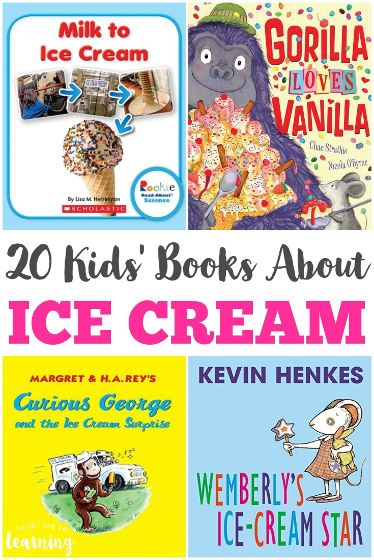 Read some of these fun books about ice cream for kids to share with your children over the summer!