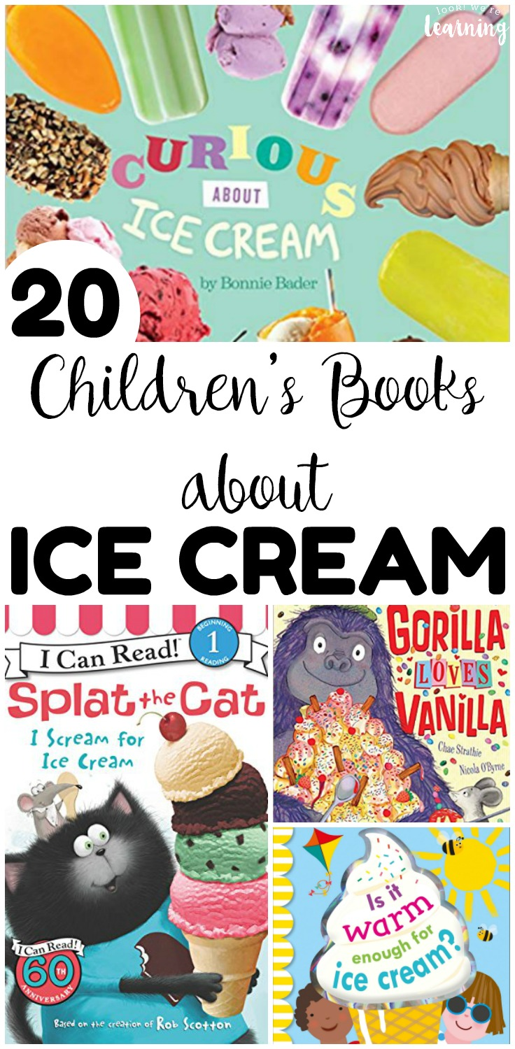 Summer is almost here and now is a wonderful time of year to read about ice cream with the kids! Share some of these books about ice cream for kids this year!
