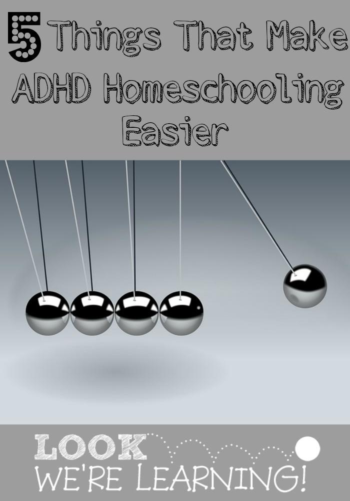 Things That Make ADHD Homeschooling Easier