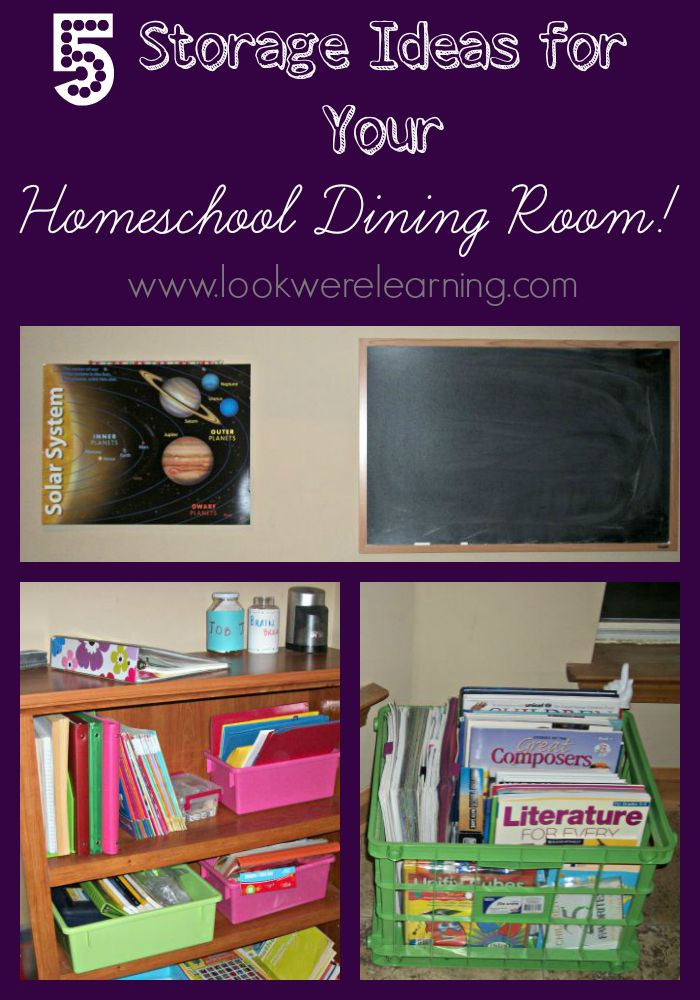 5 Homeschool Dining Room Ideas
