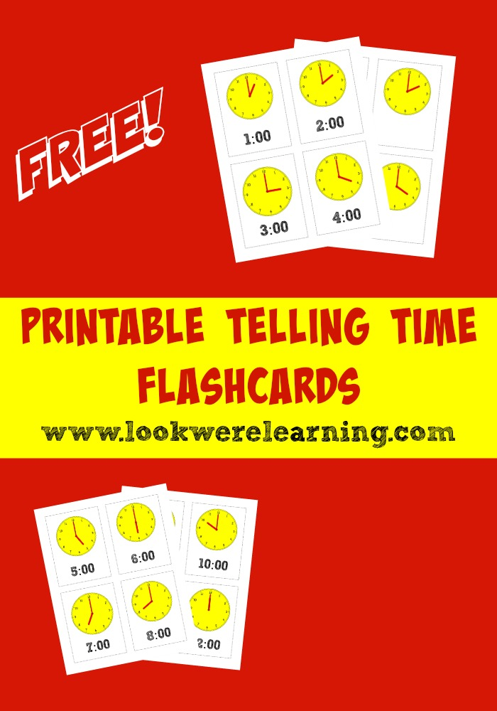 Free Printable Flashcards Telling Time to the Hour