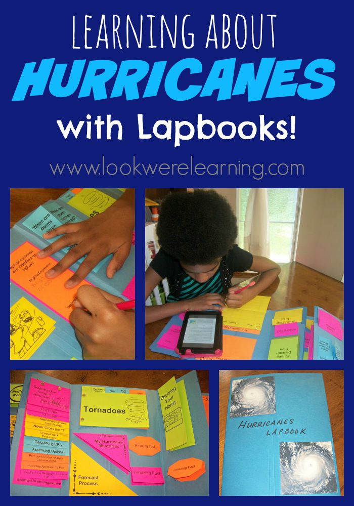 Making a Hurricane Lapbook