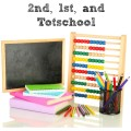 Our Homeschool Curriculum for 5th Grade, 2nd Grade, 1st Grade, and Totschool