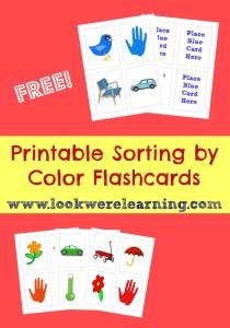 Printable Sorting Flashcards