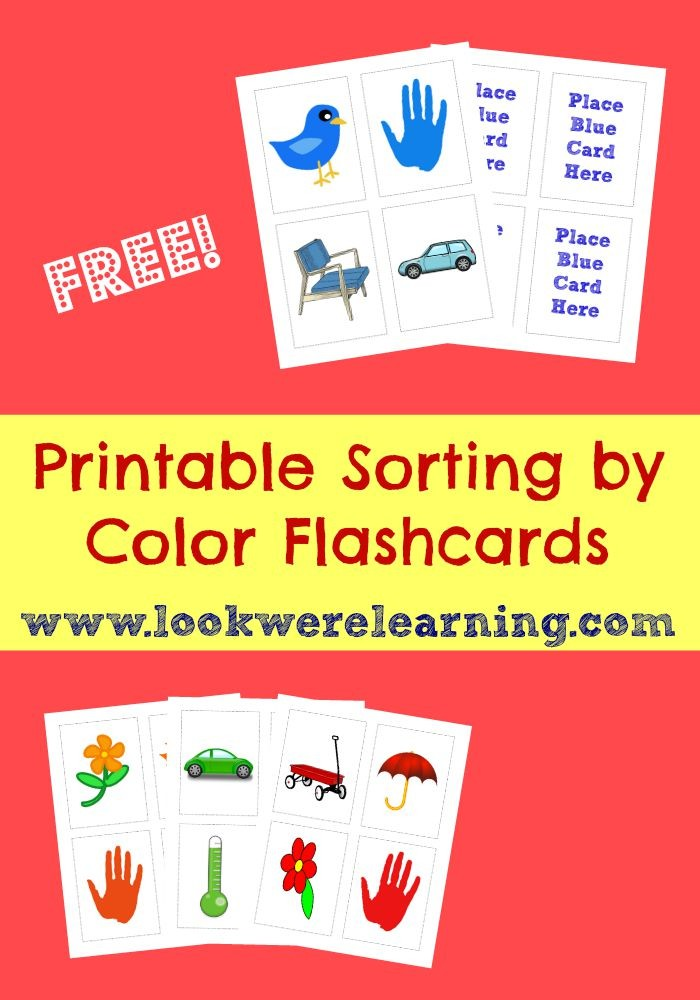 Free Printable Flashcards: Sorting Flashcards