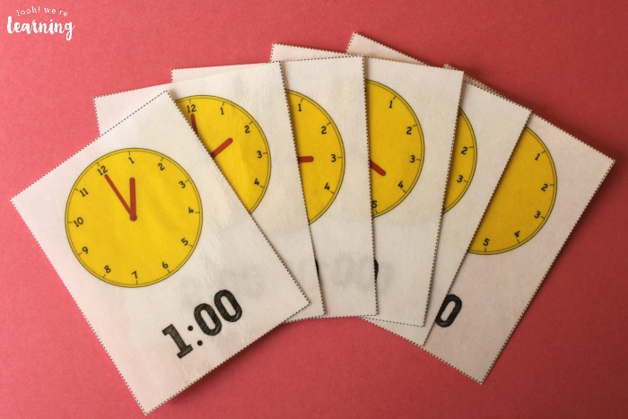 Printable Telling Time Flashcards