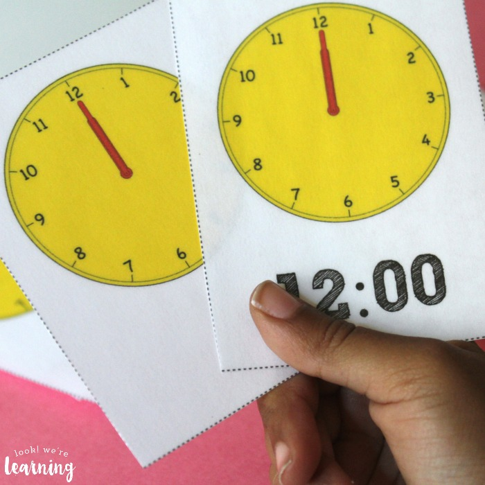 Printable Time Flashcards