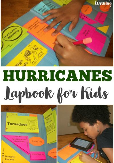 Study hurricanes with this awesome hands-on hurricane lapbook for kids!