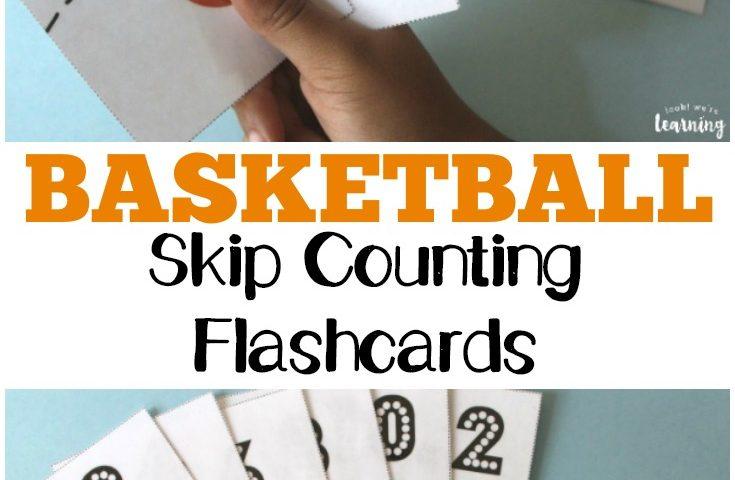 Basketball Free Skip Counting Flashcards
