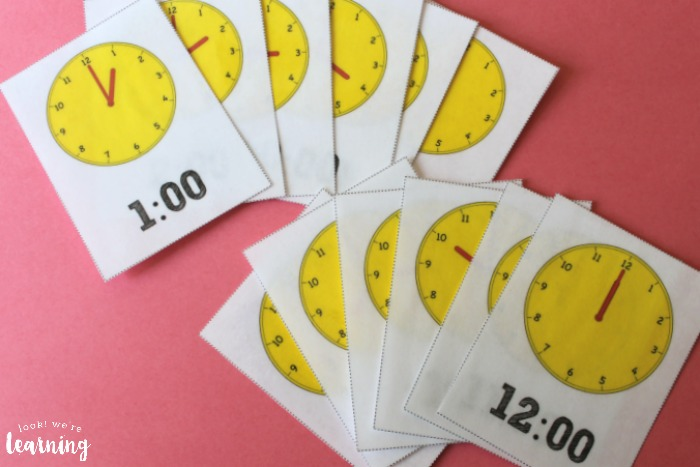Telling Time Flashcards for Kids