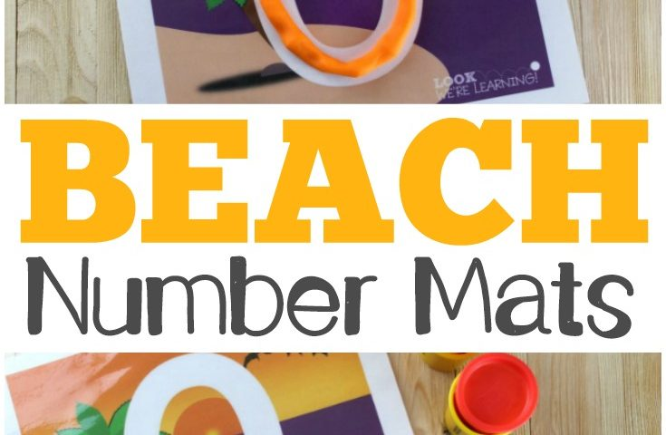 Preschool Playdough Mats: Beach 0-9 Number Playdough Mats