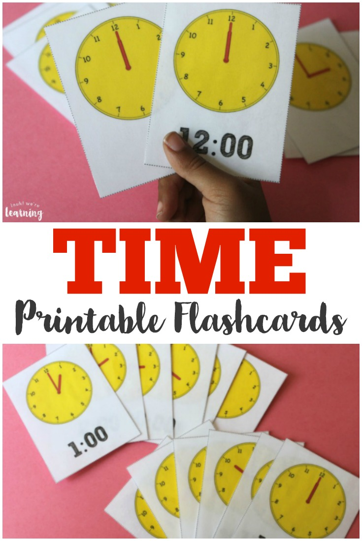 Work on reading digital and analog time with these telling time to the hour flashcards!