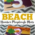 Your preschooler will love working on fine motor skills and number sense with these beach number 0-9 playdough mats!