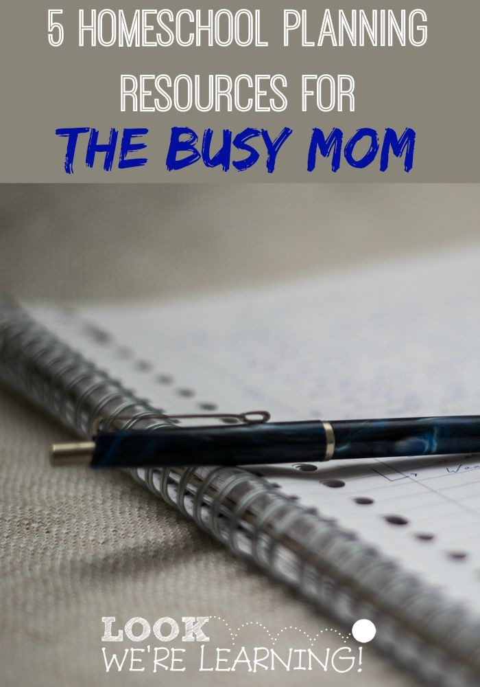 5 Awesome Homeschool Planning Resources for Busy Moms