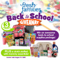 Fresh Families Back to School Giveaway