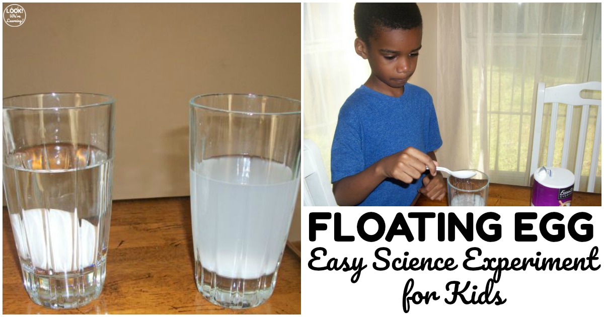 Easy Floating Egg Science Experiment for Kids