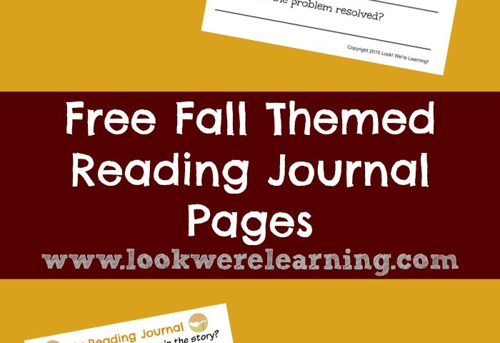 Fall Themed Reading Journal Printables