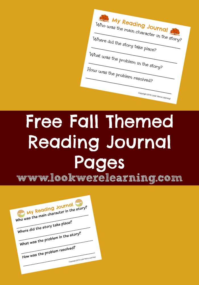 Free Fall Reading Journal for Second Grade