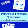 Free Printable Fraction Flashcards