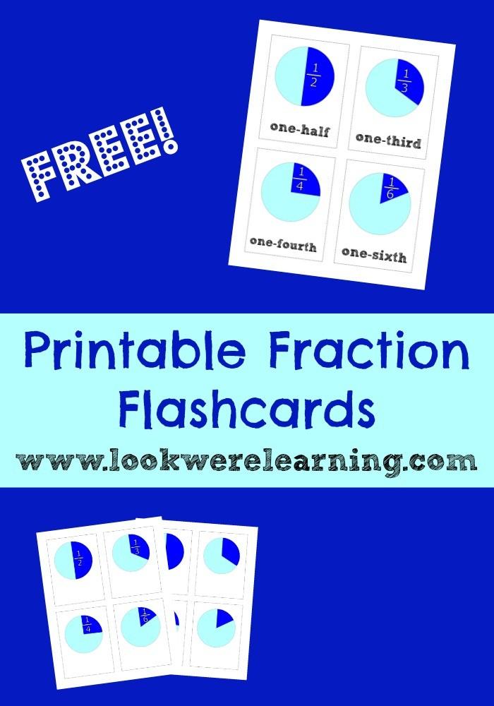 Free Printable Flashcards: Printable Fraction Flash Cards