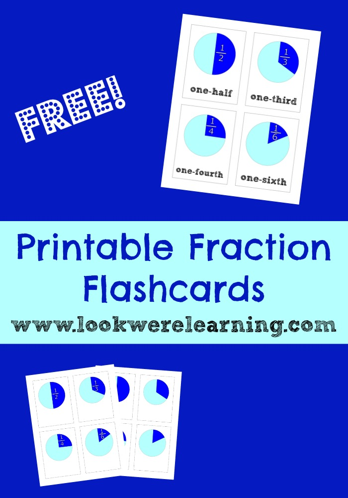 Free Printable Flashcards: Printable Fraction Flash Cards - Look! We ...