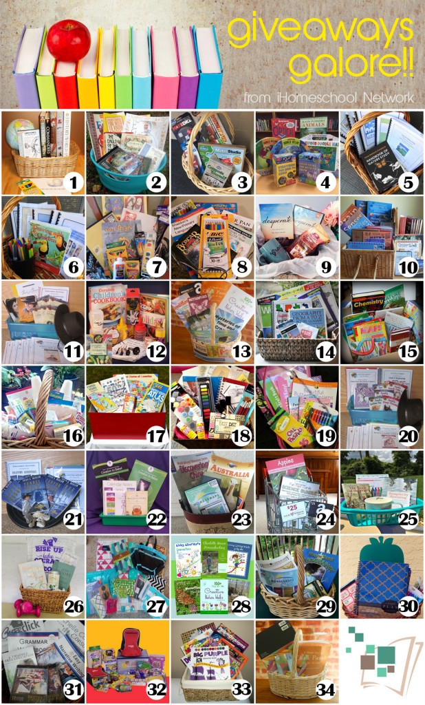 iHomeschool Network Gift Baskets 2015