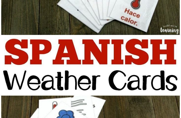 Printable Spanish Flashcards: Spanish Weather Flashcards